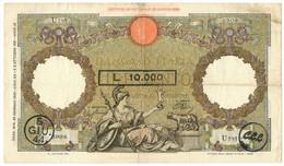 100/10000 LIRE CAPRANESI AQUILA COMITATO DI LIBERAZIONE LIGURE CLL 05/06/1944 - 24/01/1942 BB/BB+ - Italia