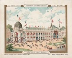 Chromo Ancien - Au Bon Marché - Exposition Universelle 1900 - Palais De Fils - Tissus & Vêtements - Au Bon Marché