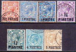 BRITISH LEVANT 1913-14 SG #35-40 Compl.set Incl.36a Used CV £120 - British Levant