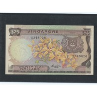 RARE !!  SINGAPORE $25 ORCHIDS SERIES CURRENCY MONEY BANKNOTE (#7) - Singapore
