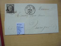 Francia. Marcophilie. YT3a Isolé. Description. 3 Photos - Postmark Collection (Covers)