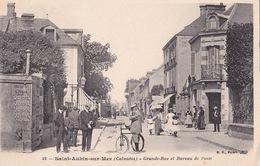 SAINT-AUBIN-SUR-MER (14) - Grande Rue Et Bureau De Poste - BF 42 - Sans Date - Saint Aubin