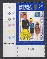 Guernsey 1985 Girl Guides 1v (corner) ** Mnh (44098G) - Guernsey