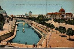 67 STRASBOURG  VUE PANORAMIQUE SUR L'ILL PRES DE LA PLACE DE LA REPUBLIQUE - Strasbourg