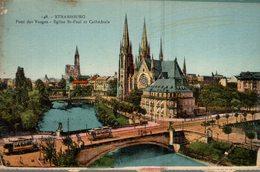 67 STRASBOURG  PONT DES VOSGES  EGLISE SAINT-PAUL ET CATHEDRALE - Strasbourg