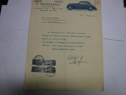 FIRENZE  ---   AUTOMOBILI --    F. FRONZAROLI  --   GARAGE  --NOLEGGI - Italia