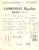 Vieux Papier Du Béarn, Buzy (64), Menuiserie Sciage Hippolyte Capdevielle, 1948, Planches De Chêne - France