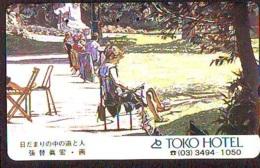 Télécarte Japon * PEINTURE  * ART (2337) FEMME  * Japan * Phonecard * KUNST TELEFONKARTE - Painting
