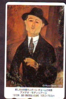 Télécarte Japon * PEINTURE  * ART (2338) Amedeo Modigliani   * Japan * Phonecard * KUNST TELEFONKARTE - Pittura