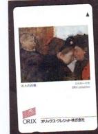 Télécarte Japon * PEINTURE FRANCE * ORIX * ART (2346) EDGAR DEGAS   * Japan * Phonecard * KUNST TELEFONKARTE - Peinture