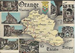 CPM 84 - Orange Le Théatre Antique Multivues & Carte Du Département - Orange