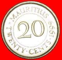 + PORTRAIT (1987-2016): MAURITIUS ★ 20 CENTS 1999 MINT LUSTER! LOW START ★ NO RESERVE! - Mauritius