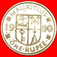 + SHIP (1987-2016): MAURITIUS ★ 1 RUPEE 1990! LOW START ★ NO RESERVE! - Mauritius