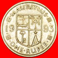+ SHIP (1987-2016): MAURITIUS ★ 1 RUPEE 1993! LOW START ★ NO RESERVE! - Mauritius