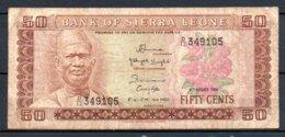 329-Sierra Leone Billet De 50c 1984 D12 - Sierra Leone