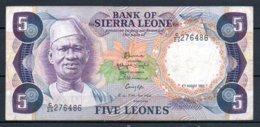 329-Sierra Leone Billet De 5 Leones 1985 C25 - Sierra Leone