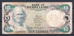 329-Sierra Leone Billet De 10 Leones 1984 E17 - Sierra Leone