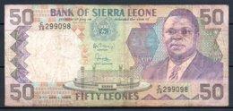 329-Sierra Leone Billet De 50 Leones 1989 C38 - Sierra Leone