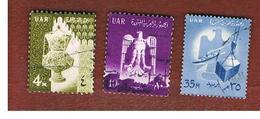 EGITTO (EGYPT) - SG 670.672  - 1961 NATIONAL SYMBOLS   - USED ° - Usati