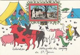 SAINT-JOUIN DE MARNES. -  Carte Dessinée Humoristique.  Camping - Saint Jouin De Marnes