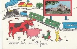 SAINT-JOUIN DE MARNES. -  Carte Dessinée Humoristique.  Une Grosse Bise - Saint Jouin De Marnes