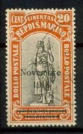 San Marino 1918 Sass. 63 Usato 40% Vittoria - San Marino