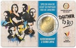 Belgie 2016  2 Euro Commemo Olympische Spelen Van RIO   In Coincart   Extreme Rare !!! UNC - België