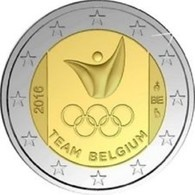 Belgie 2016  2 Euro Commemo Olympische Spelen Van RIO Extreme Rare !!! UNC Uit De Coincard !! - Belgien