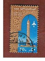 EGITTO (EGYPT) - SG 758  - 1964  AIRMAIL: AIRPLANE & CAIRO TOWER   - USED ° - Usati
