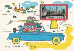 SAINT-JOUIN DE MARNES. -  Carte Dessinée Humoristique.  Bien Arrivés - Saint Jouin De Marnes