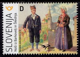 Slovenia - 2019 - Euromed - Costumes Of The Mediterranean - Mint Stamp - Slovénie