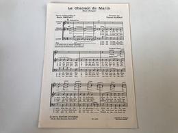 Partition - La Chanson Du Marin / La Fille De Saint Malo - Marie DROUART Vincent GAMBAU - Partitions Musicales Anciennes