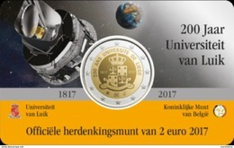 Belgie 2017  2 Euro Commemo 200 Jaar UNIV. Van Luik Nederlandstalige Versie    In Coincart   Extreme Rare !!! UNC - België