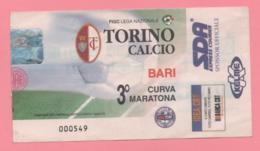 Biglietto D'ingresso Stadio Toro Bari - Eintrittskarten