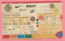 Biglietto D'ingresso Stadio Inter Torino Campionato Di Calcio Tim 2002/2003 - Tickets D'entrée