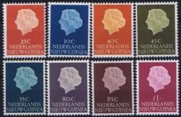 Nederlands Nieuw Guinea 1954, Koningin Juliana NVPH 30-37  MH/* Ongestempeld Met Plakker - Nouvelle Guinée Néerlandaise