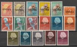 Nederlands Nieuw Guinea 1962 NVPH 1-17 UNTEA Surcharge, MH* - Nouvelle Guinée Néerlandaise