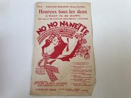 Partition - HEUREUX TOUS LES DEUX - COLLINE & MERRY / YOUMANS - 1926 - Partituren