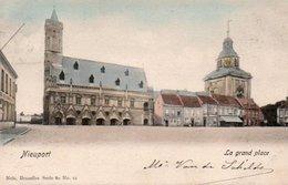 Nieuport La Grand Place Carte Colorisée Circulé En 1905 - Nieuwpoort