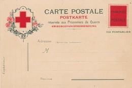 SUISSE. MILITARIA. GUERRE 1914-18. CARTE POSTALE RÉSERVÉE AUX PRISONNIERS DE GUERRE - FM-Karten (Militärpost)