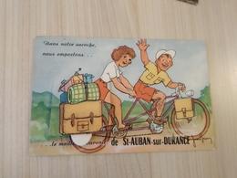 CPA 04 Basses Alpes Saint Aignan Sur Durance Multi Vues Système Vélo Tandem - France