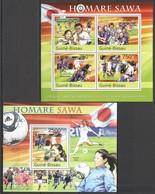 BC645 2011 GUINE GUINEA-BISSAU SPORT FOOTBALL WOMEN WORLD CUP HOMARE SAWA KB+BL MNH - Autres