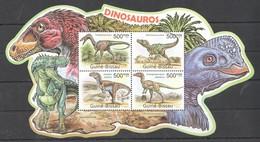 BC653 2011 GUINE GUINEA-BISSAU ANIMALS DINOSAURS DINOSAUROS 1KB MNH - Préhistoriques