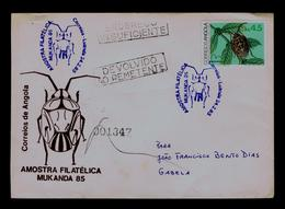 "MUKANDA 85 ""antesteopsis Lineaticollis Intricata Ghesq."" ANGOLA Pmk 1985 RARE Brasiliana'83 Portugal Insectes Gc4107 - Other"