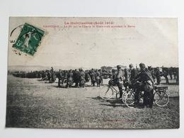 AK CP La Mobilisation Aout 1914 Narbonne Le 80 Regiment Soldaten Francais Cycliste Uniform - War 1914-18