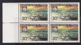Australian Antarctic 1971 30c Pancake Ice Block Of 4 MNH - Unused Stamps