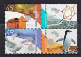 Australian Antarctic 2002 Base Set Block Of 4 MNH - Australian Antarctic Territory (AAT)