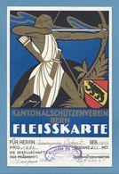 Schweiz Suisse 1939: KANTONALSCHÜTZENVEREIN BERN FLEISSKARTE Societé De Tir SONCEBOZ SOMBEVAL (Format 122x187mm) - Bogenschiessen