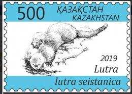 Kazakhstan 2019 Fauna Red Book Eurasian River Otter Definitives 1v MNH - Timbres