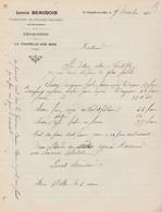 Facture 1909 / Louis BEAUDOIN / Fabricant Chaises Paillées / 88 La Chapelle Aux Bois / Vosges - 1900 – 1949